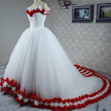 Flower Wedding Dress, Bridal Dresses,ball Gown Prom Dress ...